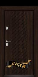 Блиндирана входна врата T 1001 цвят Венге