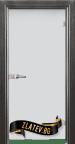 Стъклена интериорна врата Matt G 11 G с каса Сив Кестен