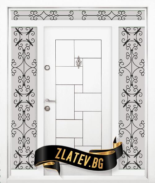 Еднокрила входна врата T-100 Цвят бял