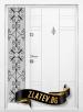 Еднокрила Входна врата T-598 - Цвят бял