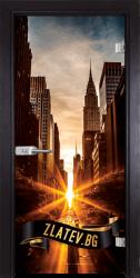 Стъклена интериорна врата Print-G-13-18-X