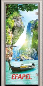 Стъклена интериорна врата Print G 13 15 Thailand V
