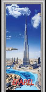 Стъклена интериорна врата Print G 13 16 Dubai L