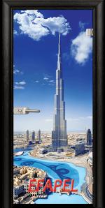 Стъклена интериорна врата Print G 13 16 Dubai M