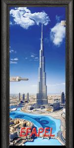 Стъклена интериорна врата Print G 13 16 Dubai O