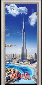 Стъклена интериорна врата Print G 13 16 Dubai V