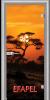 Стъклена интериорна врата Print G 13 17 African Sunset L