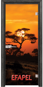 Стъклена интериорна врата Print G 13 17 African Sunset O