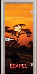 Стъклена интериорна врата Print G 13 17 African Sunset V