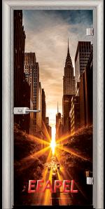Стъклена интериорна врата Print G 13 18 New York V
