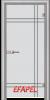 Стъклена интериорна врата Sand G 13 8 L