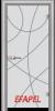 Стъклена интериорна врата Sand G 14 12 L