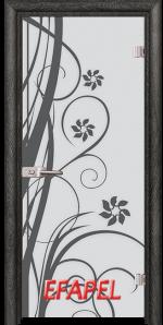 Стъклена интериорна врата Sand G 14 7 O